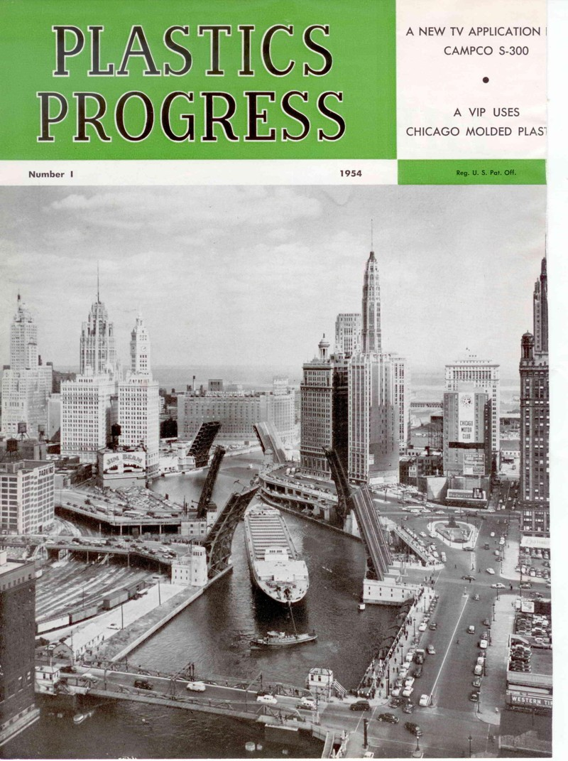 Plastics Progress 1954  Magazine Cover
