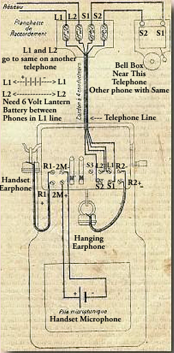 French Telephone Hook Up Diagram Marty 1910